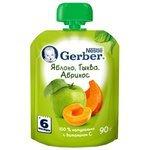 Пюре Gerber яблоко, тыква, абрикос (с 6 месяцев) 90 г, 1 шт