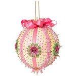 Волшебная Мастерская Шар новогодний из пайеток Нежность розовый ШП-06