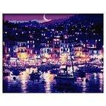 """ВанГогВоМне Картина по номерам """"Ночная гавань"""", 40х50 см (ZX 21416)"""