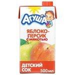 Сок Агуша Яблоко-персик, c 3 лет