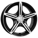 Купить K&K Мирель 6x14/4x114.3 D66.1 ET38 Алмаз черный