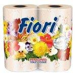Туалетная бумага Aster Fiori персиковая трёхслойная