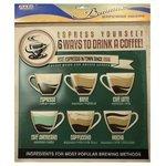 Наклейка Arte Nuevo Винтаж. 6 ways to drink a coffee, объемная