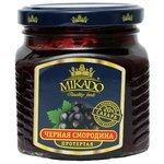 MIKADO Протертая ягода Mikado черная смородина с пониженным содержанием сахара, банка 270 г