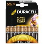 Батарейка AAA Duracell LR03-18BL BASIC (18/180/36540)