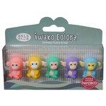 IWAKO Набор ластиков Colorz Monkey