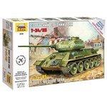 Сборная модель ZVEZDA Советский средний танк Т-34/85 (5039) 1:72