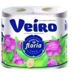 Туалетная бумага Veiro Floria Душистый пион двухслойная