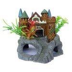 Грот Meijing Aquarium Крепость с растениями