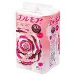 Туалетная бумага Ellemoi розовая двухслойная с цветочным ароматом