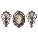 Часы настенные кварцевые Русские подарки с панно 122335/122336