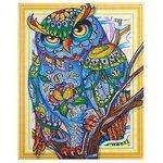Color Kit Алмазная картина с фигурными стразами Мудрая сова (FKU015) 40х50 см