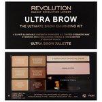 REVOLUTION Палетка теней для бровей Ultra Brow Palette
