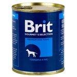 Brit (0.85 кг) 12 шт. Консервы для собак Говядина и рис