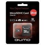 Qumo microSDHC class 10 16GB + SD adapter