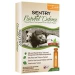 SENTRY Natural Defense капли от блох и клещей для собак от 7 до 18 кг