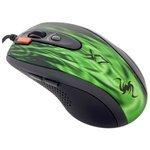 Мышь A4Tech XL-750BK Green Fire Black-Green USB