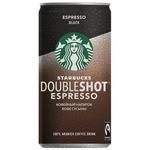 STARBUCKS Кофейный напиток Starbucks Doubleshot Espresso Black 0.2 л
