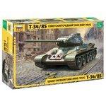 Сборная модель ZVEZDA Советский средний танк Т-34/85 (3687) 1:35