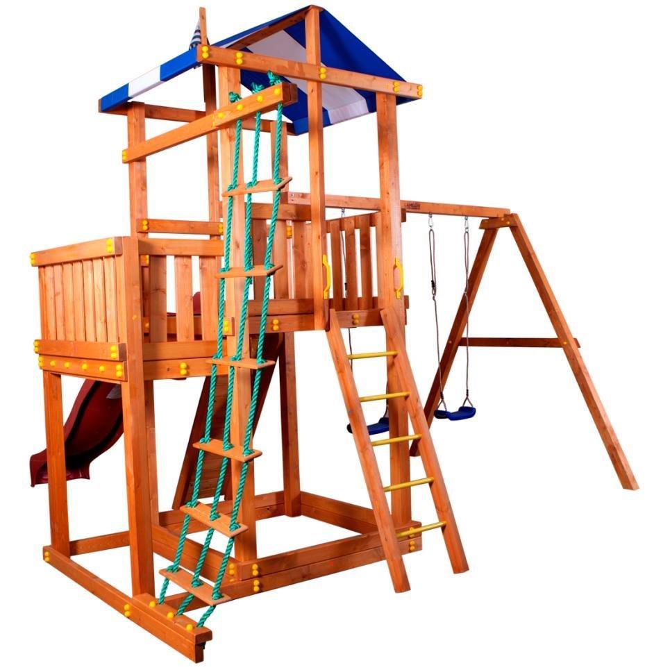 Детский спортивный комплекс для дачи из дерева