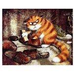 "Paintboy Картина по номерам ""Кот чистит ботинки (Очищение)"" 40х50 см (GX3221)"