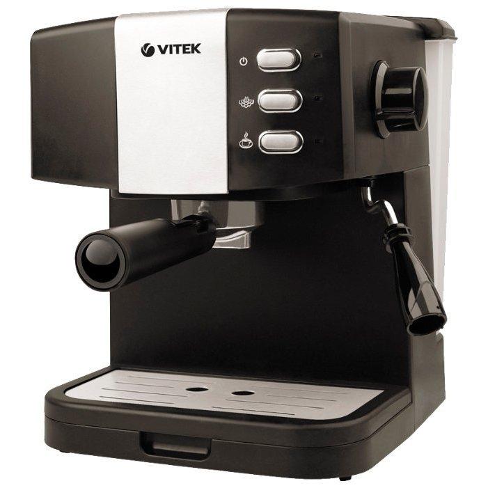 Технические характеристики Кофеварка рожковая Vitek VT-1523 черный. Интернет-магазин DNS