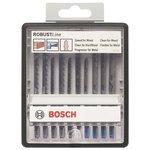 Набор пилок для лобзика BOSCH Robust Line Wood and Metal 10 шт.