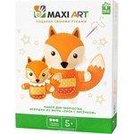 Набор для шитья Maxi Art Лиса с лисёнком
