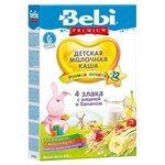 Каша Bebi молочная 4 злака с вишней и бананом (с 12 месяцев) 200 г
