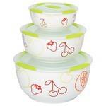Oursson Набор керамических салатников с крышками Bon Appetit, 3 шт.
