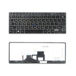 Клавиатура для ноутбука Toshiba Portege Z30 Series. Плоский Enter. Черная, с серой рамкой. С подсветкой. PN: Z9.NAJBN.00R. (RU TOP-100469)