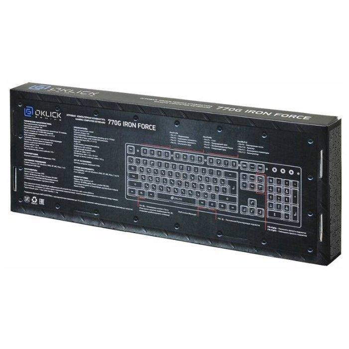 Купить Oklick 770G IRON FORCE Black-Gray USB