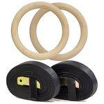 Кольцо гимнастическое 2 шт. ECOS 002861 со стропами и замками, диаметр 23,6 см, до 500 кг