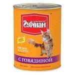 Четвероногий Гурман Мясное ассорти с говядиной для кошек (0.34 кг) 1 шт.