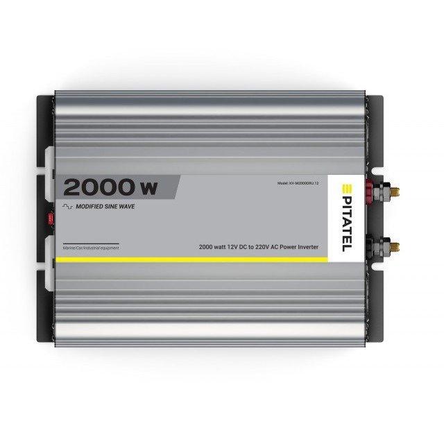 Купить Инвертор Pitatel KV-M2000DRU.12 (12В/220В, модифицированный синус, 2000Вт)