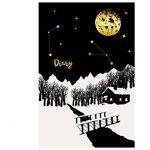 Ежедневник Listoff Зимнее небо недатированный, А5, 152 листов