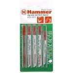 Набор пилок для лобзика Hammer JG WD-PL 204-903 5 шт.