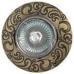 Встраиваемый светильник De Fran FT 182AK GAB, зеленое античное золото