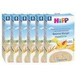 Каша HiPP молочная пшеничная с овсяными хлопьями, фруктами и йогуртом с пребиотиками (с 8 месяцев) 250 г, 6 шт.