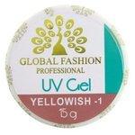 Гель Global Fashion Yellowish однофазный камуфлирующий для наращивания, 15 г