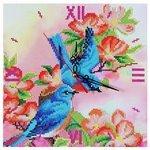 Color Kit Алмазные часы Райские птички с часовым механизмом (7303014) 30х30 см