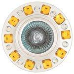 Встраиваемый светильник De Fran FT 502, зеркальный / золотистые кристаллы