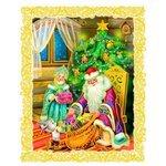 Наклейка интерьерная Феникс Present Дед Мороз и Снегурочка 30 х 38 см