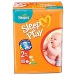 Pampers Sleep&Play 2 (3-6 кг) 88 шт.