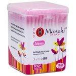 Ватные палочки Maneki Lovely с розовым бумажным стиком (CB944)