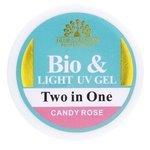 Биогель Global Fashion Bio & Light UV gel Two in One для моделирования, 15 г