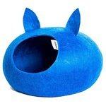 Домик для кошек, для собак Zoobaloo WoolPetHouse М с ушками 35х35х18 см