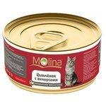 Molina (0.08 кг) 4 шт. Консервы для кошек Цыпленок с анчоусами в соусе