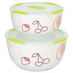 Oursson Набор керамических салатников с крышкой Bon Appetit, 2 шт.