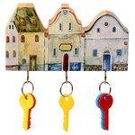 Ключница elf Маленькие городские домики, 19x11 см